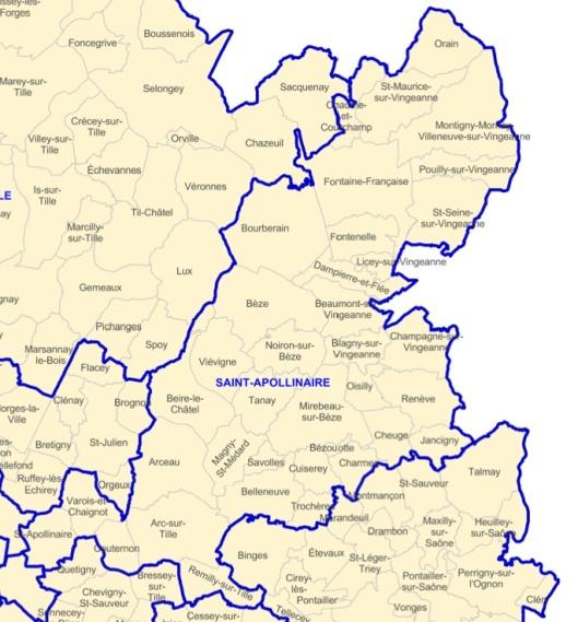 Le nouveau canton de Saint-Apollinaire dont fait partie Trochères.